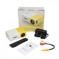 Мини проектор портативный мультимедийный с динамиком Led Projector YG300 mini. Лед Проэктор УГ300 мини