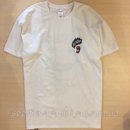 Мужская белая футболка Ripndip унисекс Реплика, фото 2
