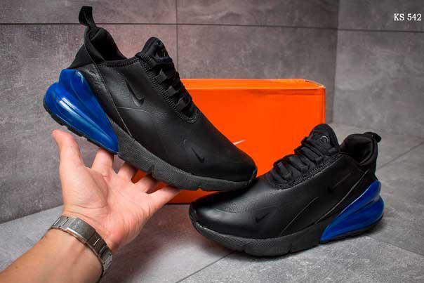 Кроссовки Nike Air 270 (черно/синие)