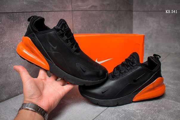 Кроссовки Nike Air 270 (черно/оранжевые)