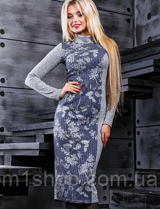Вязаное женское платье под горло (2387 svt), фото 2