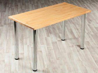 Дерев'яний стіл з хромованими ніжками, фото 2
