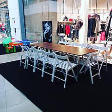 Дерев'яний стіл з хромованими ніжками, фото 3
