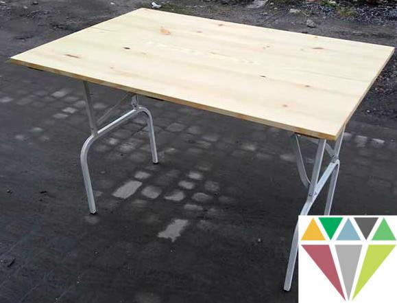 Дерев'яний розкладний прямокутний стіл, оренда, фото 2