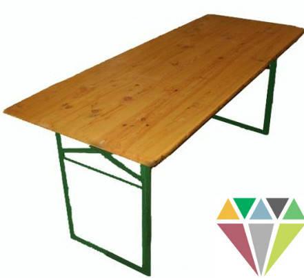 Дерев'яний прямокутний розкладний стіл, оренда, фото 2