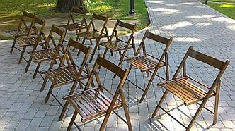 Складний дерев'яний стілець, оренда, фото 2