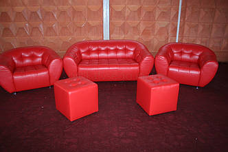 Диван червоний магнат, оренда, фото 2