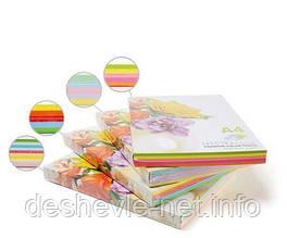 Набор цветной бумаги А4/75 5х50/250арк.SPECTRA COLOR-Rainbow Pack Cyber (неон)