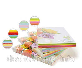 Набор цветной бумаги. А4 / 80 10х10 / 100л. SPECTRA COLOR-Rainbow Pack (супер микс)