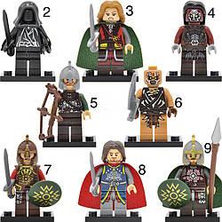 Властелин колец Lord of the Rings мини-фигурки Лего Lego фродо бэггинс,Гэндальф,Арагорн,Саурон,Леголас