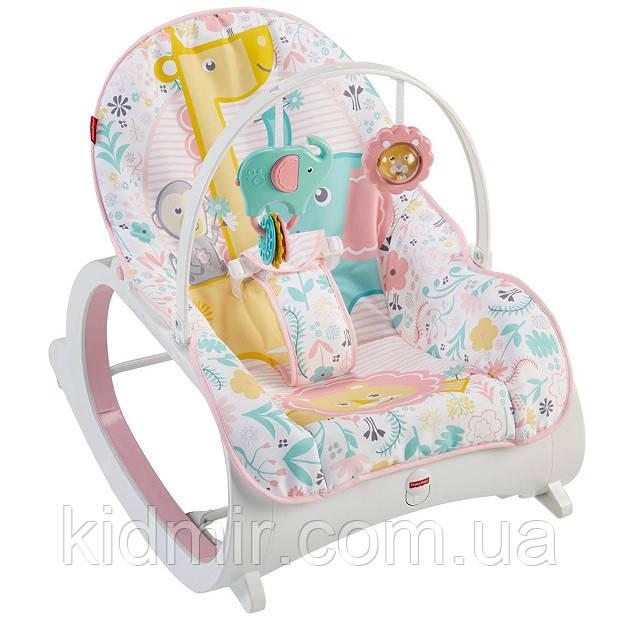 Кресло качалка шезлонг Розовое Fisher-Price Infant-to-Toddler Rocker