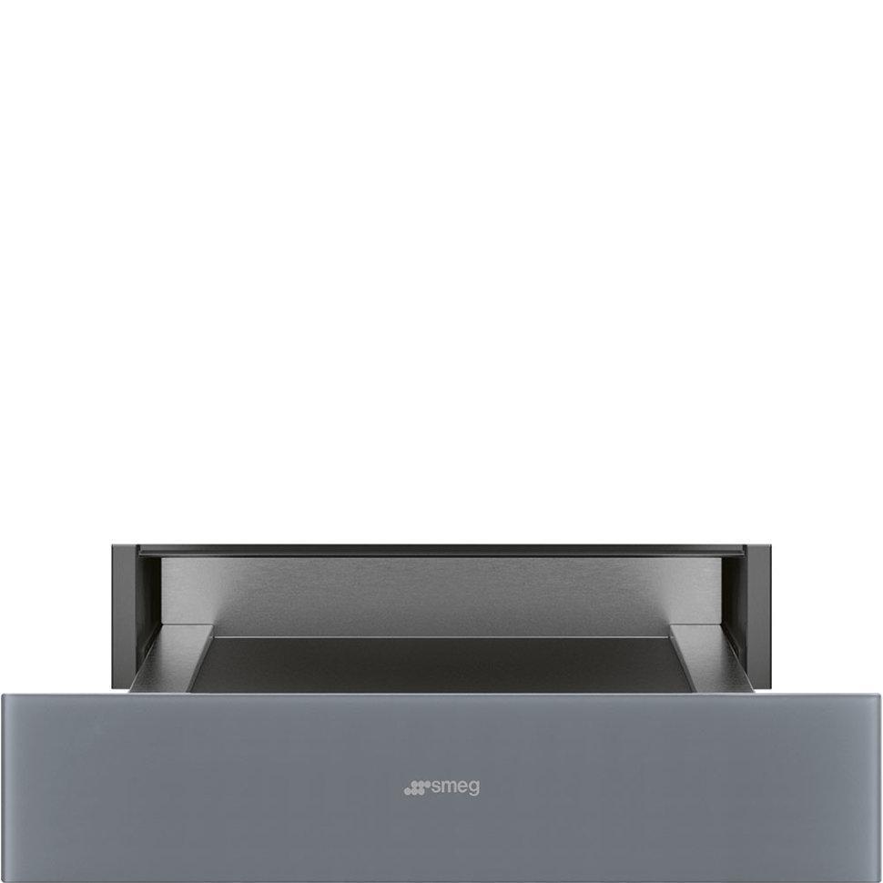 Встраиваемая шуфляда для подогрева посуды Smeg CP115S серебряное стекло
