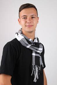 Оригинальный мужской шарф в клетку
