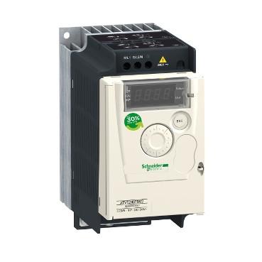 Перетворювач частоти 0.55 кВт 220В 1Ф Altivar 12 ATV12H055M2