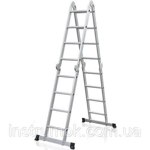 Лестница алюминиевая трансформер  4,6 м, 4х4 ELKOP