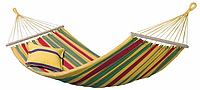 Разноцветный гамак хлопок 100 х 200 с перекладиной, Мексиканский гамак для дачи и отдыха на природе