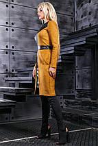 Женское замшевое платье с экокожей (2406-2403-2404-2405 svt), фото 3