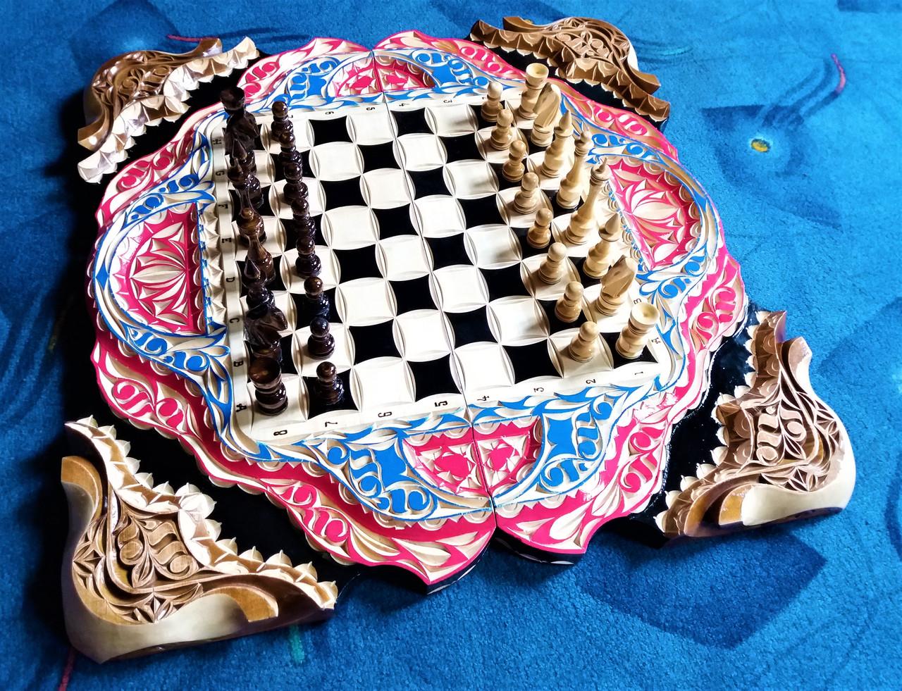 Шахматы-нарды-шашки подарочные + шкатулка для фигур