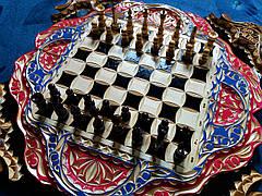 Шахматы-нарды-шашки подарочные + шкатулка для фигур, фото 3
