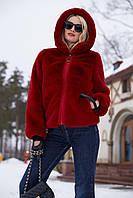 Полушубок Марчел - красный №6203