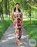 Красивый длинный сарафан с визуальной утяжкой