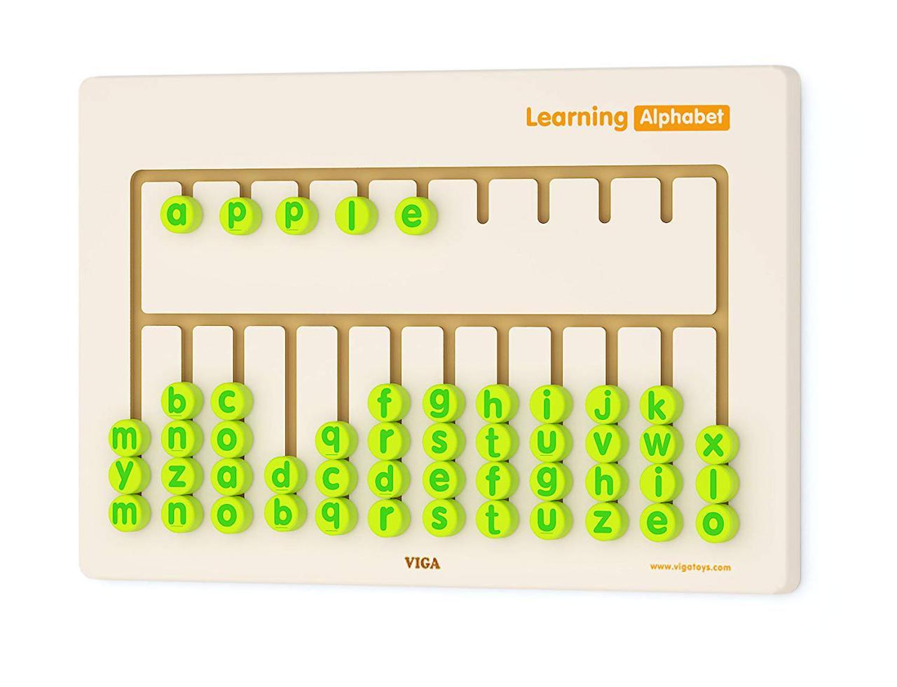 Набор для обучения бизиборд Алфавит Viga toys (50674)