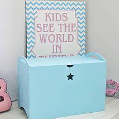 Ящик для іграшок Блакитний SKU-1