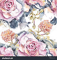Фотообои акварель цветы