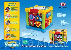 """Логика кубик PLAY SMART 7502 """"Волшебный кубик"""" интерактивный,батар.муз."""