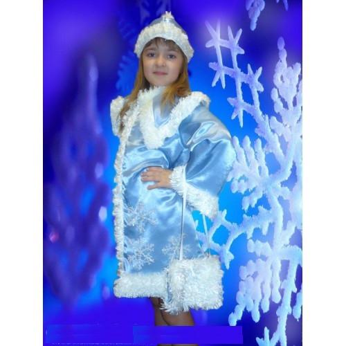 Детский карнавальный костюм Снегурочки, р.32