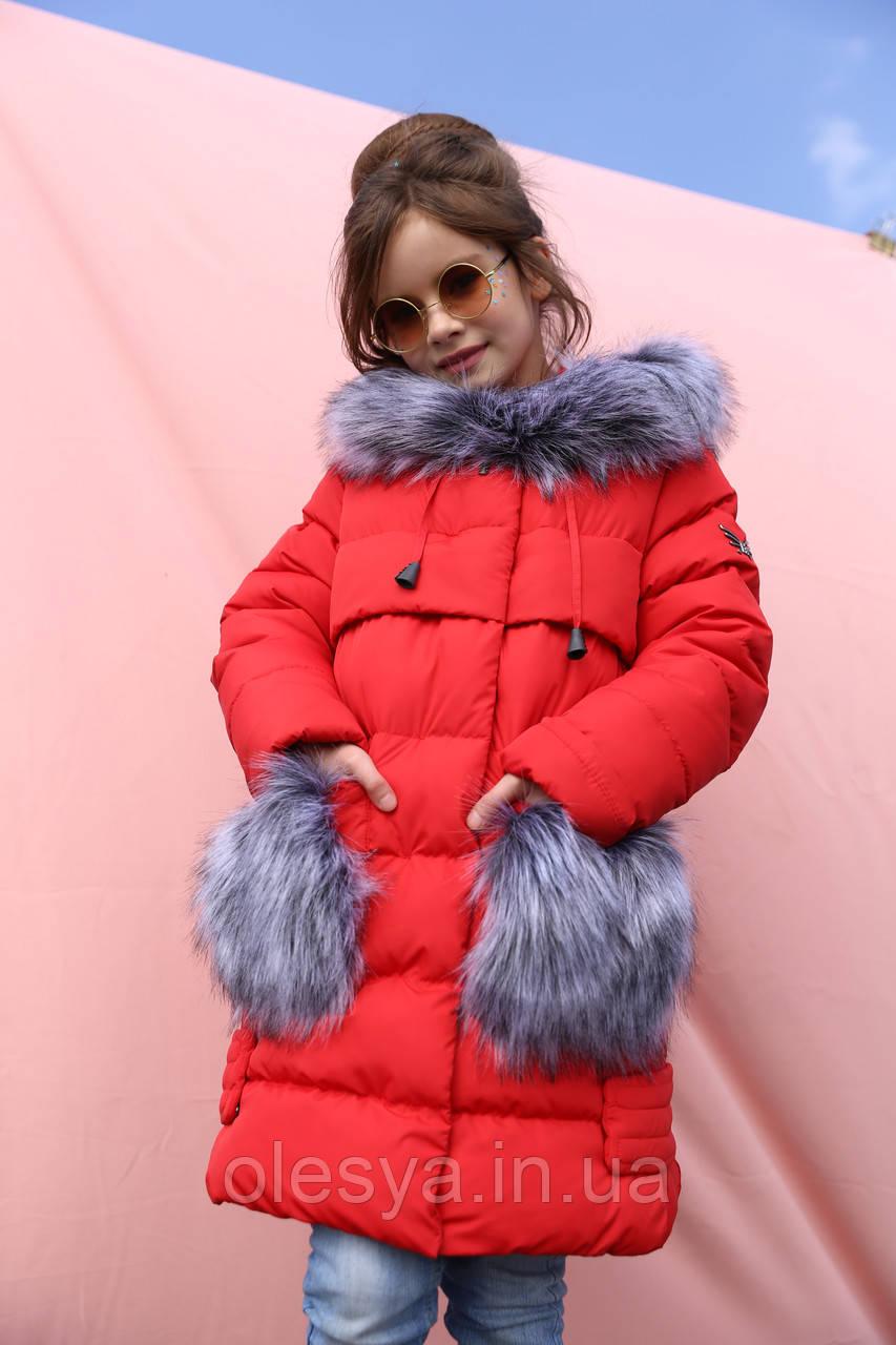 Пальто детское зимнее бренда Nui Very Полианна  Размеры 26- 42