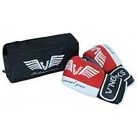 Боксерские перчатки V`Noks Lotta красные детские и взрослые 8-16 унций, тренировочные перчатки для бокса, фото 1