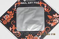 Фольга для литья и дизайна ногтей в листе серебро
