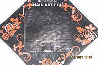 Фольга для литья и дизайна ногтей в листе . Серо-коричневый Металлик