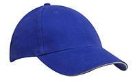 Кепка-сэндвич синяя с белой полоской Headwear proffesional - 00619