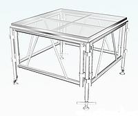 Стеклянный подиум 122 х 122 см.