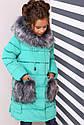 Пальто детское Полианна - Бирюза №626, фото 2