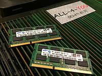 Оперативна пам`ять SAMSUNG DDR3 4GB SO-DIMM PC3 10600S  1333mHz Intel/AMD