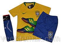 Футбольная форма сборной Бразилии 2018 Neymar (Неймар) детская + гетры