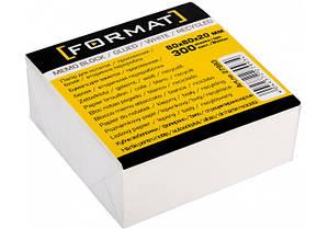 Бумага для заметок Format 80*80 мм.300 листов проклеенная