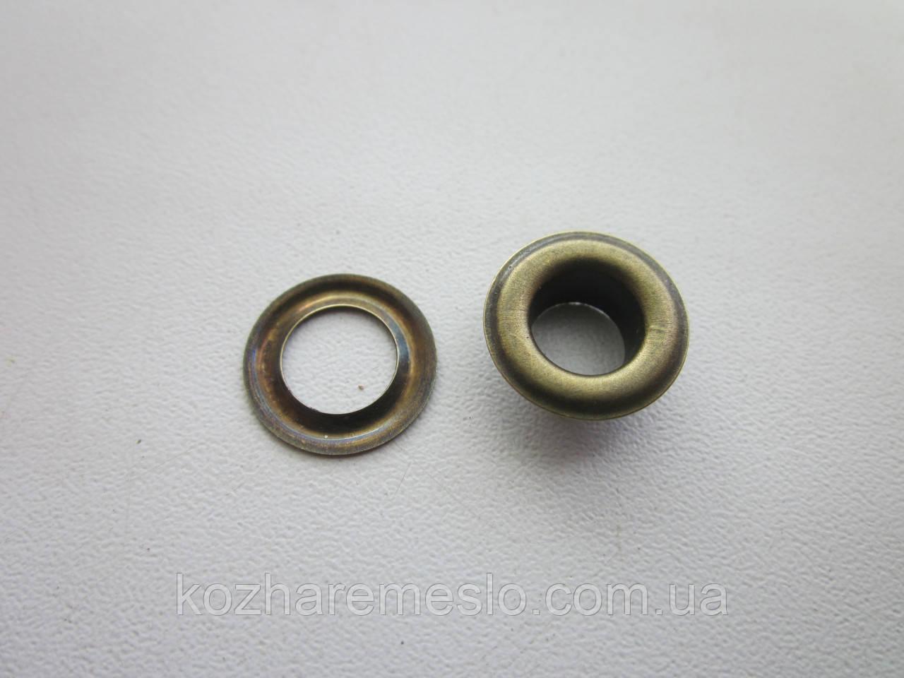Люверс 8 мм (15 х 8 х 6 мм) антик
