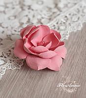 """Брошь цветок из полимерной глины """"Персиковая гардения"""""""