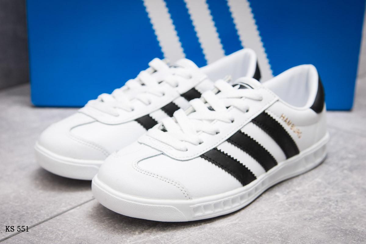 Кроссовки мужские Adidas Hamburg (белые) Реплика - Шмельок в Львове 30b5994b0df43
