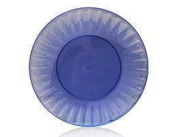 Тарелка стекловидная 20.5  см синяя 10 шт