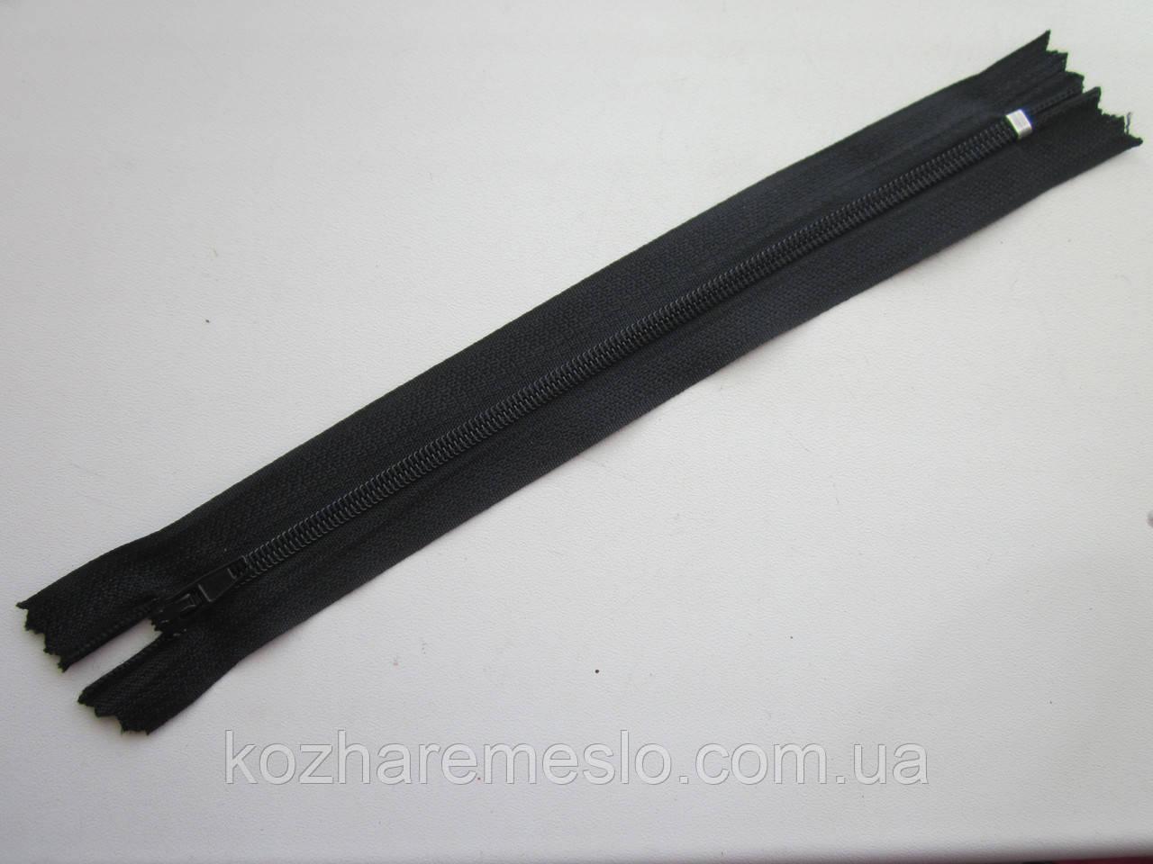Молния капроновая Т-3 18 см чёрная