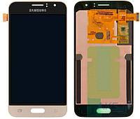 Дисплей Samsung Galaxy J1 2016 J120H Оригинал с сенсорным стеклом Золотой