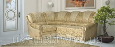 Кутовий диван для вітальні Лідія, розкладка дельфін, дивани Юдін