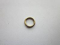 Кольцо проволочное 1 х 7 мм золото
