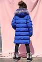 Пальто детское Полианна - Бренда Nui Very Размеры 116- 158 Электрик , фото 3