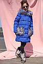 Пальто детское Полианна - Бренда Nui Very Размеры 116- 158 Электрик , фото 4